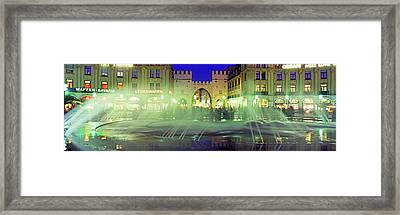 Fountain In Front Of The Karlstor Framed Print by Panoramic Images