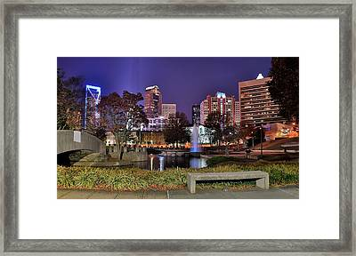 Fountain In Marshall Park Framed Print