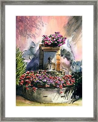 Fountain In Moustier-st-marie Framed Print by Ivo Depauw