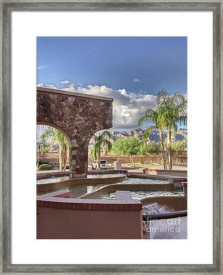 Fountain In The Foothills Framed Print