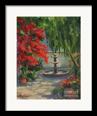 Santa Fe Fountain Framed Prints