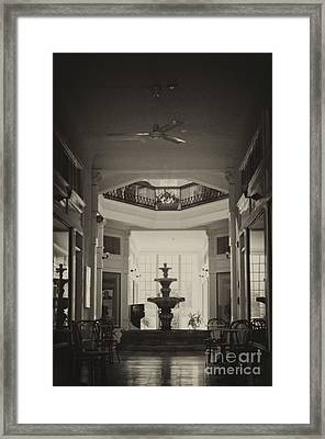 Fountain In The Light Framed Print