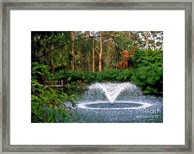 Fountain In The Park 2 Framed Print by Kaye Menner