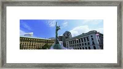 Fountain Of Eternal Life, Cleveland Framed Print