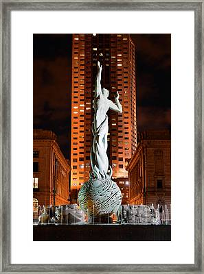 Fountain Of Eternal Life Framed Print by Clint Buhler
