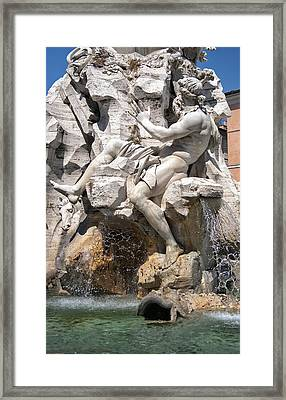 Fountain Of Four Rivers Framed Print