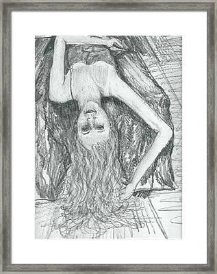 Fountain Of Hair Framed Print by Joseph Wetzel