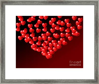 Fountain Of Love Hearts Framed Print by Kiril Stanchev