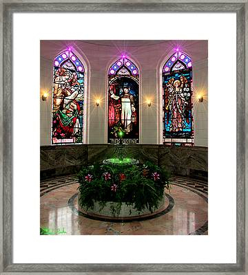 Fountain Of Peace Framed Print by Michael Rucker