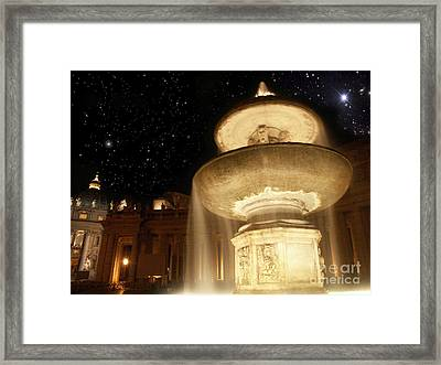 Fountain Of San Peter Framed Print by Sandro Rossi