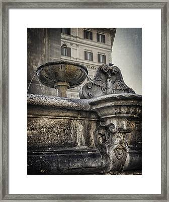 Fountain Of Santa Maria Maggiore Framed Print