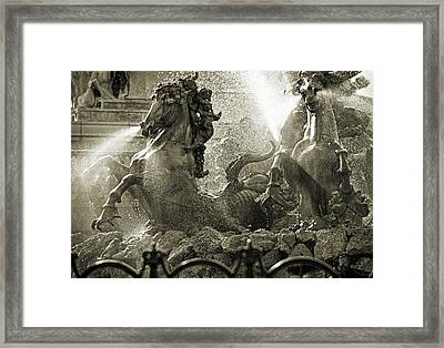 Fountain Of The Girondins Framed Print