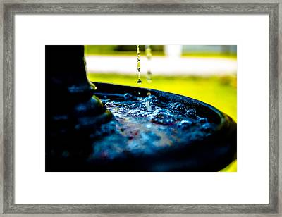 Fountain Of Time Framed Print
