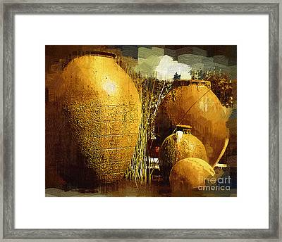 Fountain Of  Urns Framed Print
