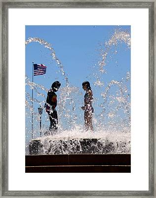 Fountain Of Youth Framed Print by Karen Wiles