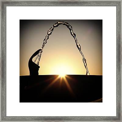 Fountain Over The Sun Framed Print by Rscpics