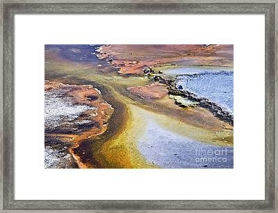 Fountain Paint Pot Framed Print