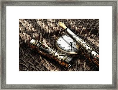 Fountain Pen Still Life Framed Print by Tom Mc Nemar