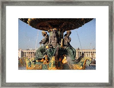 Fountain Place De La Concorde Framed Print by Jacqueline M Lewis
