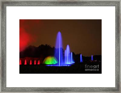 Fountain Show At Longwood Gardens Framed Print by Vadim Levin