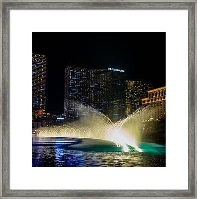 Fountain Spray Framed Print by Zachary Cox
