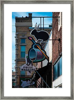Fountain Square Framed Print by Melissa Wyatt