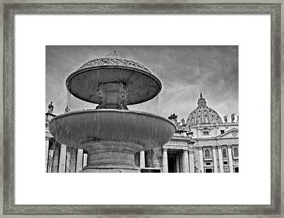 Framed Print featuring the photograph Fountain St. Peter's Square by Matthew Ahola