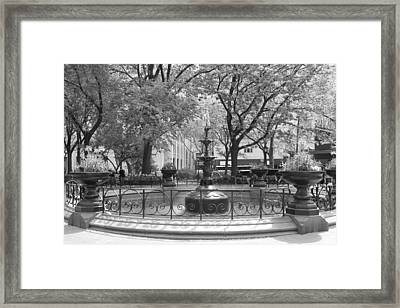 Fountain Time Framed Print