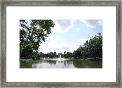 Fountain View Framed Print by Rose Clark