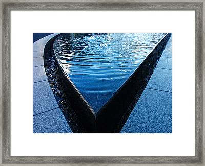 Fountain With Blue Water Framed Print by Matthias Hauser