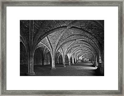 Fountains Abbey Cloister Framed Print by John Topman