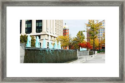 Fountains In Front Of A Memorial, Us Framed Print by Panoramic Images