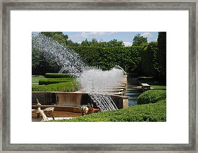 Fountains Framed Print by Jennifer Ancker