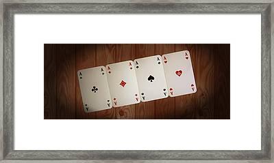 The Four Aces Framed Print by Daniel Precht