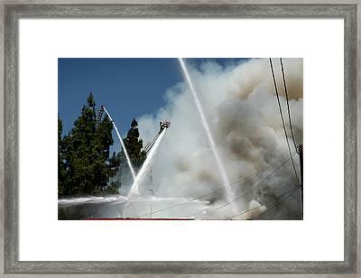 Four Alarm Blaze 003 Framed Print