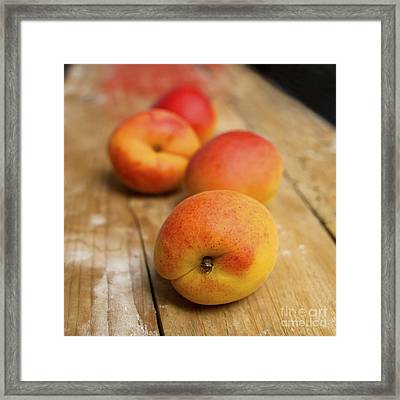 Four Apricots Framed Print