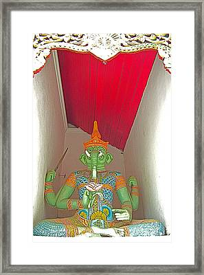 Four-armed Figure At Wat Phrathat Doi Sutep In Chiang Mai-thaila Framed Print