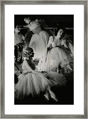Four Ballet Dancers Framed Print by Remie Lohse