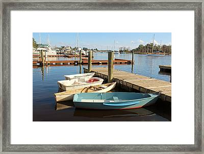 Framed Print featuring the photograph Four Boats  by Cynthia Guinn
