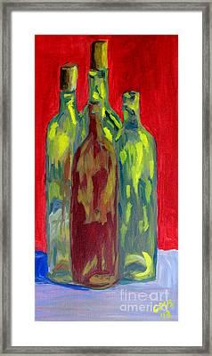 Four Bottles Framed Print by Greg Mason Burns