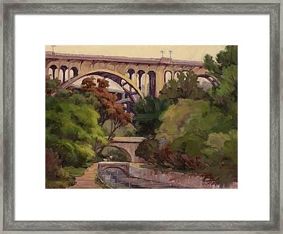 Four Bridges Framed Print by Jane Thorpe