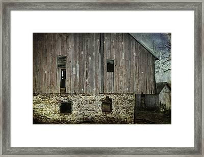 Four Broken Windows Framed Print by Joan Carroll