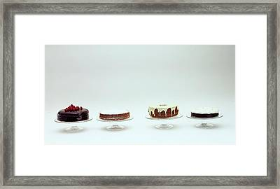 Four Cakes Side By Side Framed Print