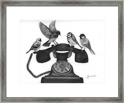 Four Calling Birds Framed Print