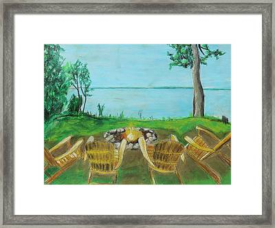 Framed Print featuring the painting Four Chairs by Jeanne Fischer