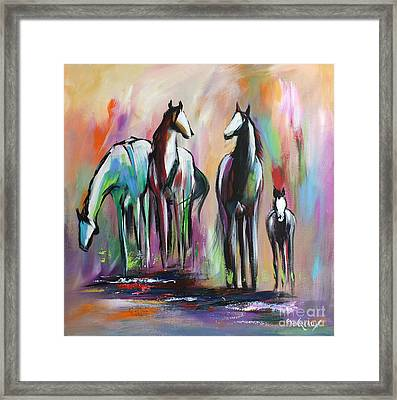 Four Framed Print by Cher Devereaux