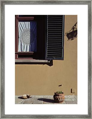 Four Corners Composition At Villa Aurora Florence Framed Print by Anna Lisa Yoder
