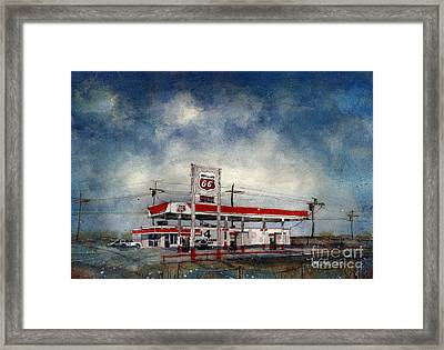 Four Corners Mart Framed Print