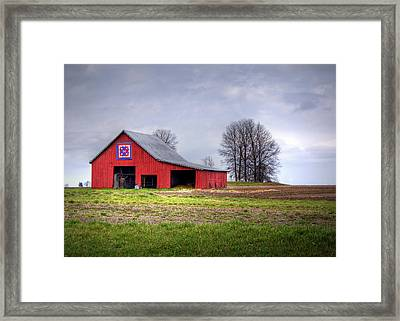 Four Corners Quilt Barn Framed Print