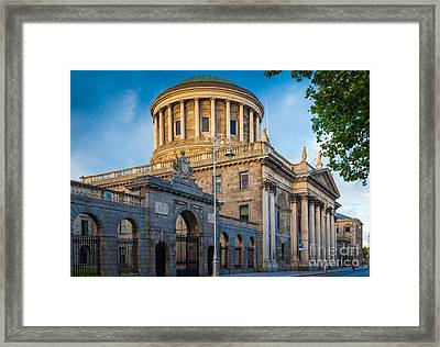 Four Courts Building Framed Print by Inge Johnsson